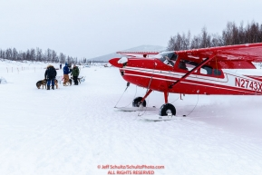 Web Erb taxis up to get a load of dogs at the ghost-town checkpoint of Iditarod on Saturday, March 10th during the 2018 Iditarod Sled Dog Race -- AlaskaPhoto by Jeff Schultz/SchultzPhoto.com  (C) 2018  ALL RIGHTS RESERVED