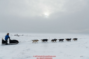 Martin Buser nears the Unalakleet checkpoint on Monday evening March 11th during the 2019 Iditarod Trail Sled Dog Race.Photo by Jeff Schultz/  (C) 2019  ALL RIGHTS RESERVED