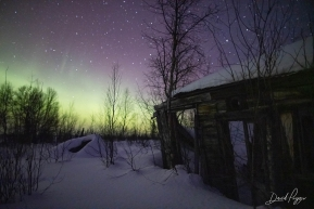 Northern Lights Over Iditarod Ghost Town