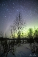 Snowshoeing Under Northern Lights