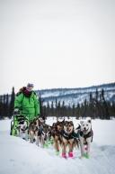 March 12th, 2020 Ryan Redington getting into Cripple along the Iditarod trail.