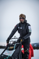 March 12th, 2020 Peter Kaiser at the Cripple checkpoint along the Iditarod trail.