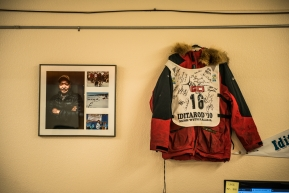Many memories & stories inside the Unalakleet checkpoint, March 15th, 2020.