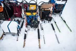 Mushers will send out a second sled to change over to once they hit the coastline. or just to have a spare incase something happens along the trail. Unalakleet, March 15th, 2020.