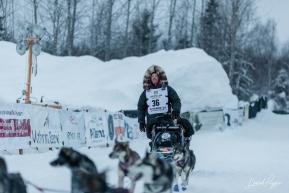 Aaron Burmeister Arrives at Finish Line