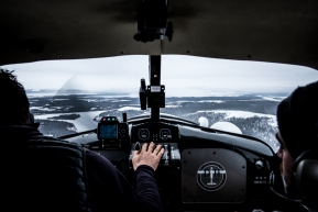 Flying from Unalakleet to White Mountain, March 16th, 2020.