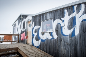 Peace On Earth, the local pizza shop in Unalakleet. Fans from all over the world order and send a pizza to teams when they reach the checkpoint. March 16th, 2020.
