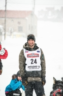 Jeff Deeter of Fairbanks, AK, finishes in Nome in 16th place in the 2020 Iditarod on March 18th, 2020.