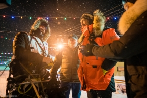 Tom Frode Johansen heads to the Iditarod finish line in the early hours of March 19, 2020 (Nome, AK).