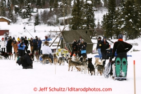 Allen Moore arrives at the Rainy Pass checkpoint March 4, 2013.