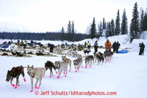 Jake Burkowitz and his team leave the Finger Lake checkpoint March 4, 2013.