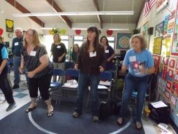 Teachers moving to the Iditarod teaching groove...