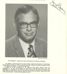 Jay Bashor, Chairman of the 1974 Iditarod Trail Committee