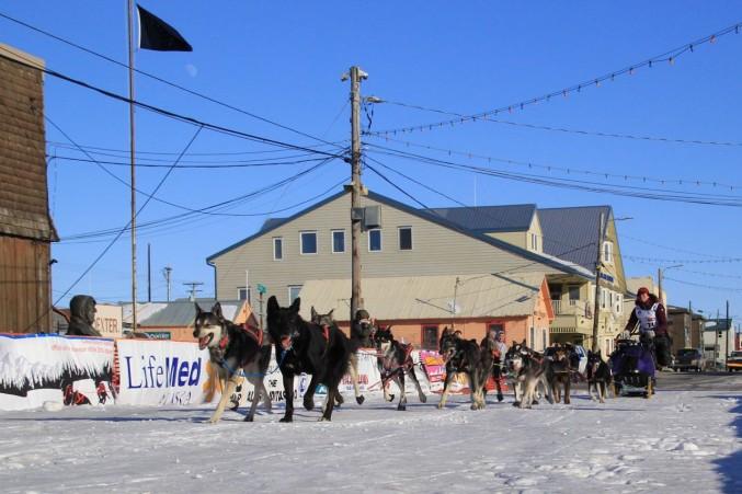 Rookie Sarah Stokey into Nome